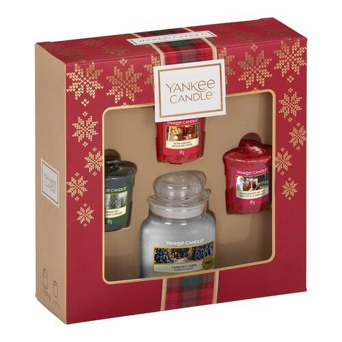 Yankee Candle 3 Votive Candle & Small Jar Candle Christmas Gift Set
