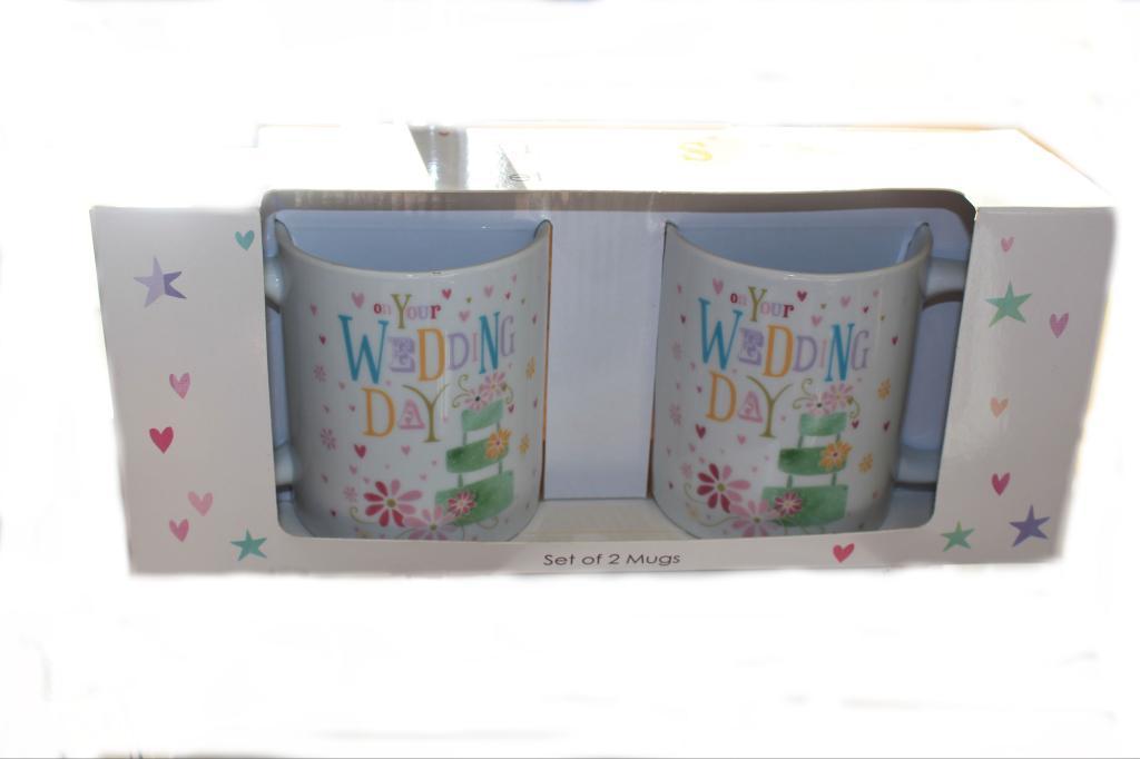 Wedding Day, Set of 2 Mugs