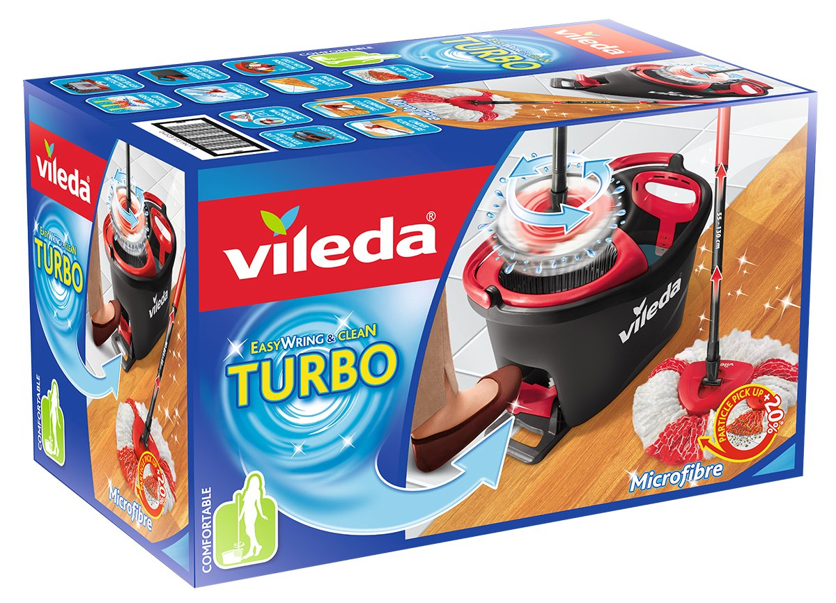 Vileda Easy Wring and Clean Turbo Mop and Bucket Set