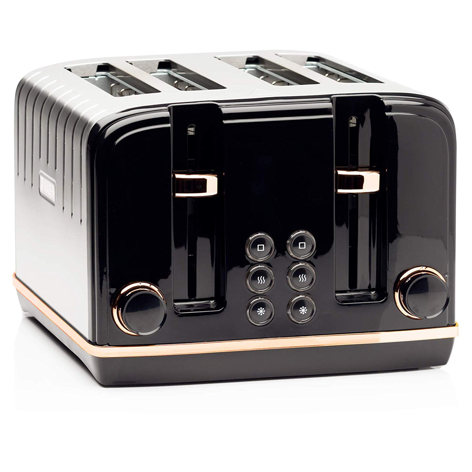 Haden Salcombe 4 Slice Toaster Black & Copper