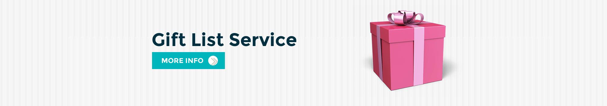 Gift List Service Banner