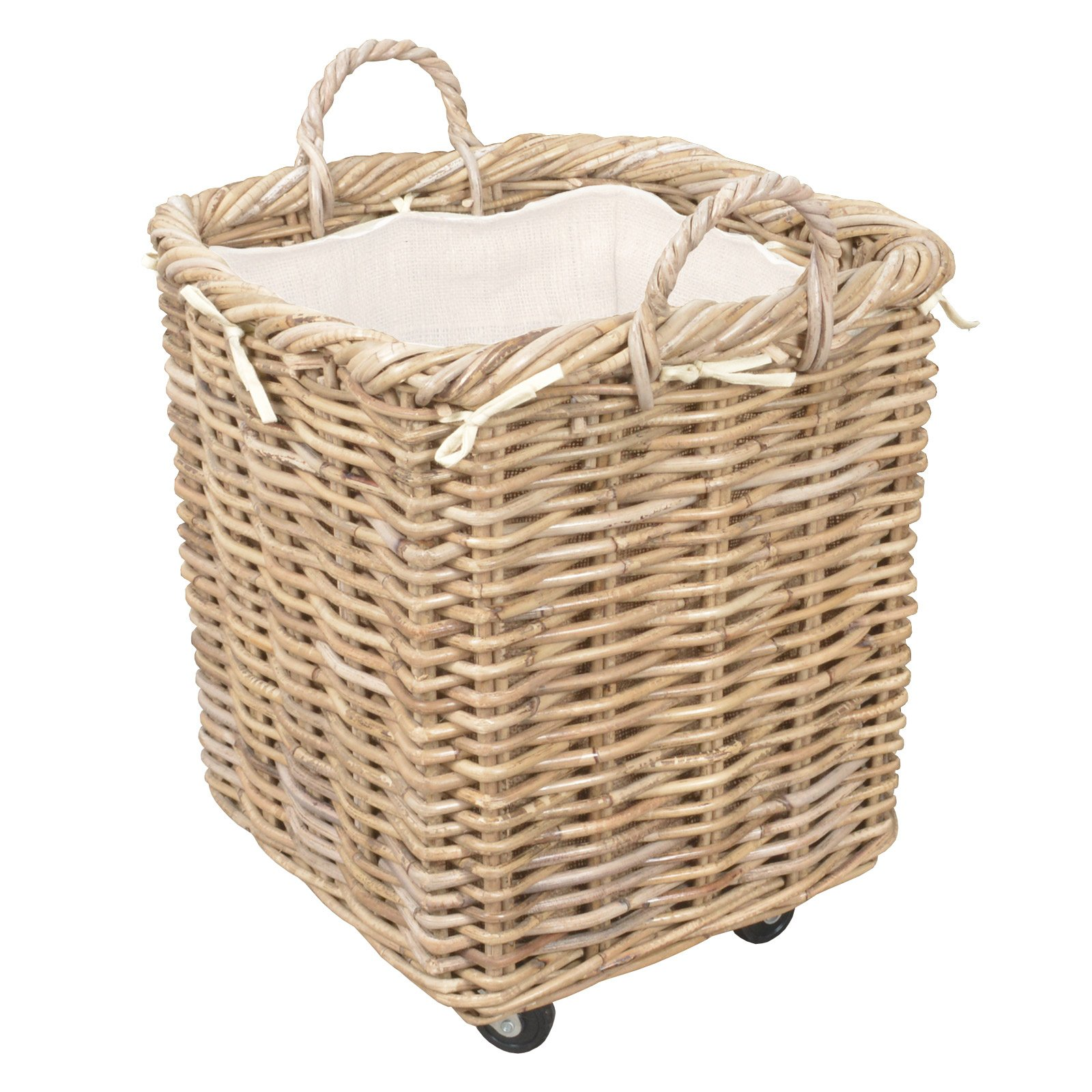 Log Basket Wheeled Manor Claridge Large