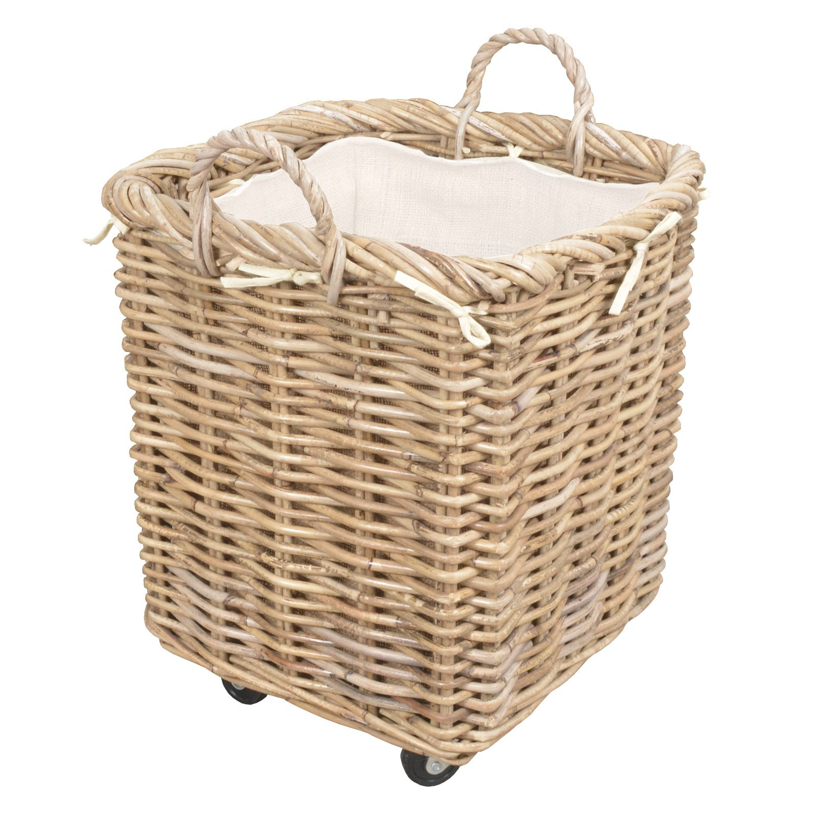Log Basket Wheeled Manor Claridge Medium