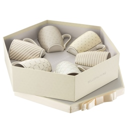 Belleek Geometric Pastilles Mug Set