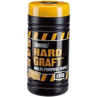 DRAPER HARD GRAFT WIPES - TUB 100