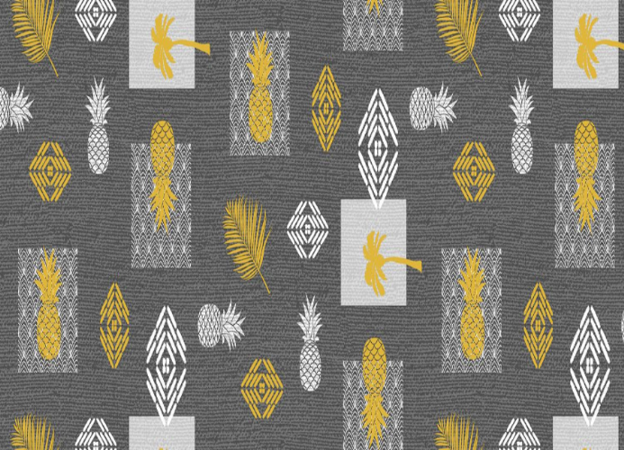 Tablecloth Grey Pineapple leaf
