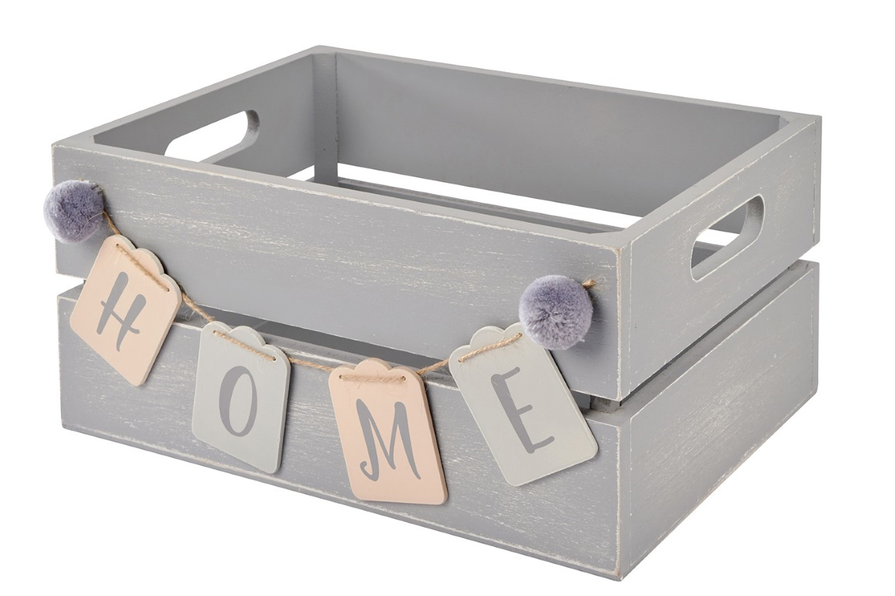 CRATE HOME GREY WOODEN