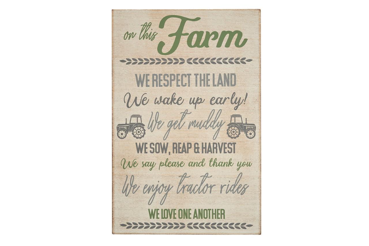PLAQUE FARM RULES