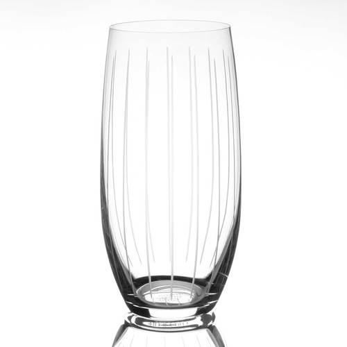 Tipperary Crystal Vertical Cut Hi-Ball Glasses Set 6
