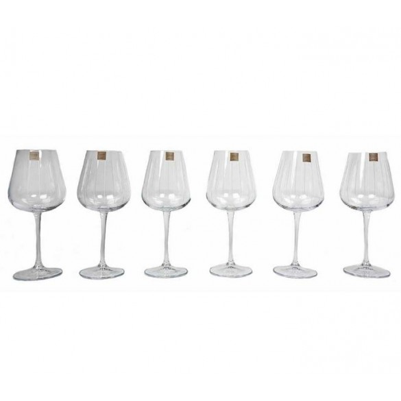 Tipperary Crystal Vertical Cut Wine Glass Set 6