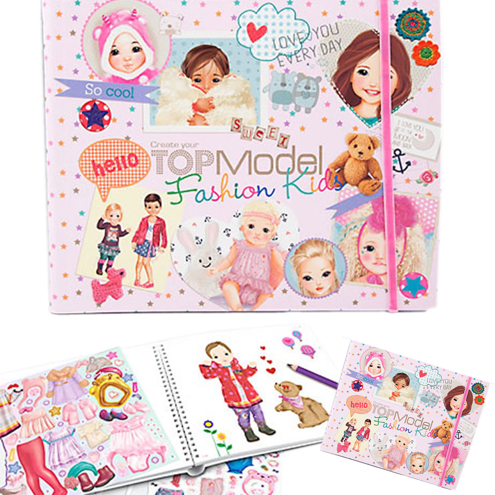 Top Model Fashion Kids Colouring Activity Book