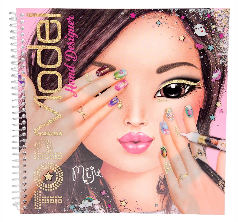 Top Model Hand Designer Colouring Sticker Book