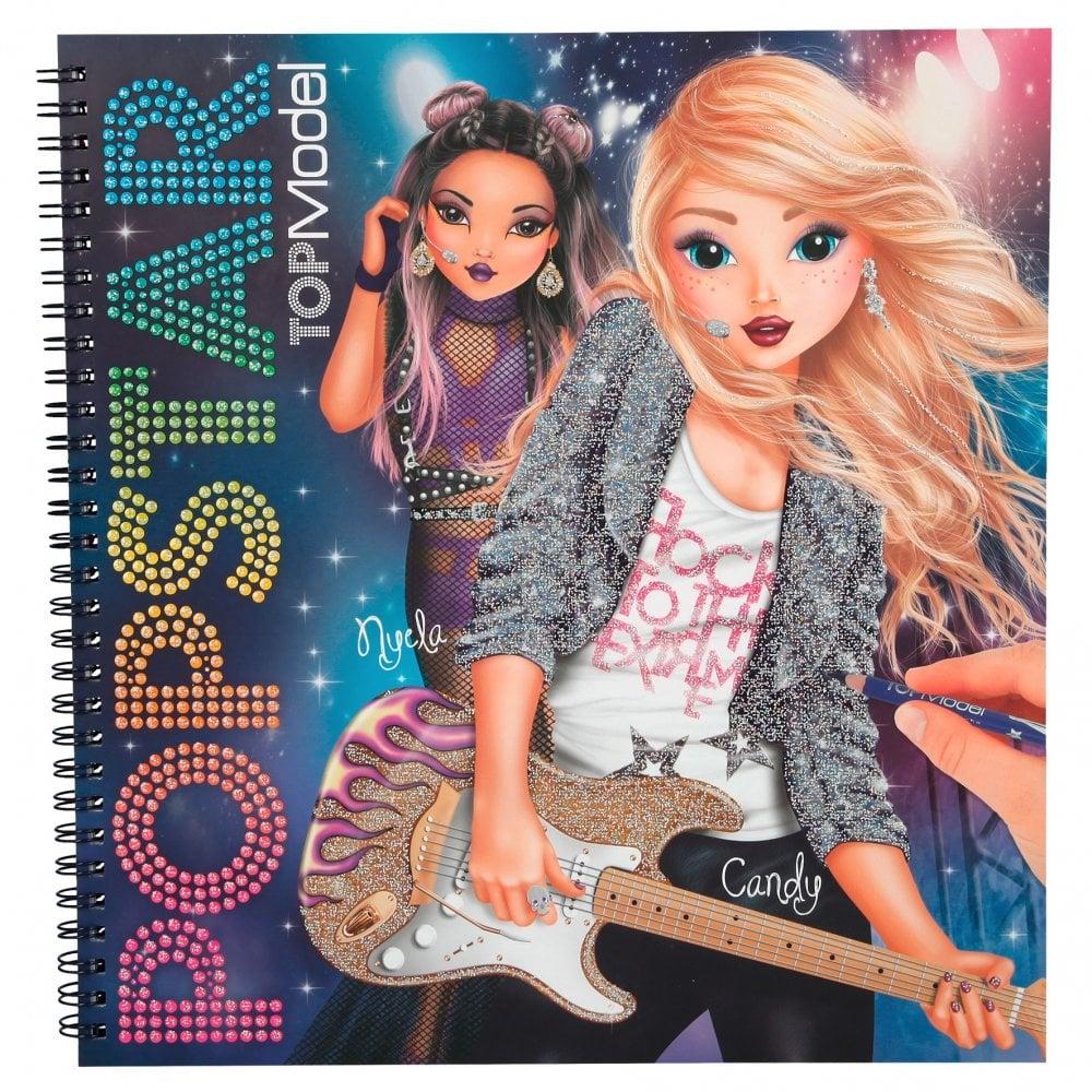 Top Model Popstar Colouring Design Sticker Book