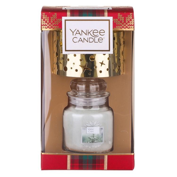 Yankee Candle Small Jar Candle & Small Shade Christmas Gift Set