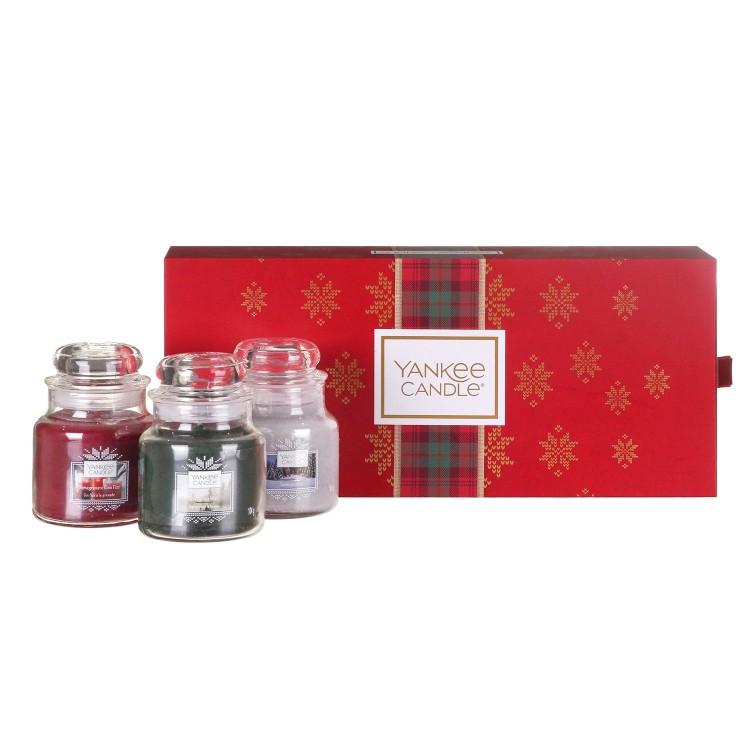 Yankee Candle 3 Small Jar Christmas Gift Set