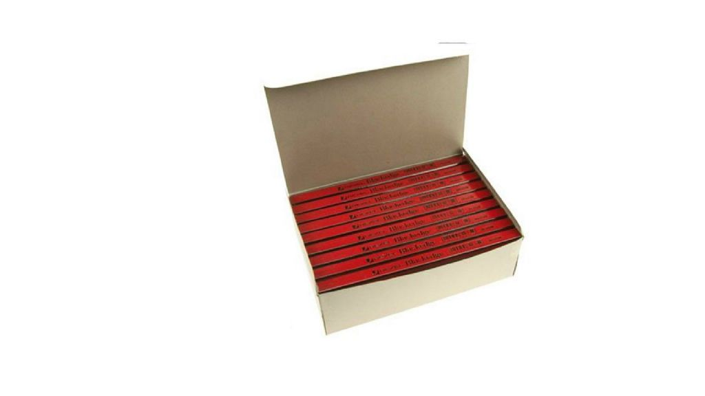 Rexel Blackedge Red Medium Grade Carpenters Pencils Box of 72