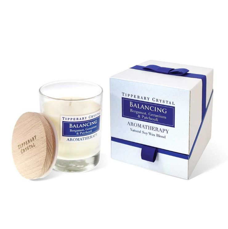 Tipperary Crystal Aromatherapy Balancing Candle